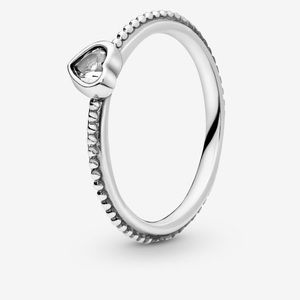 Pandora clear heart ring size 5